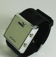 Расспродажа!!! Светодиодные,  бинарные часы Puma. Доставка 1-2 дня.