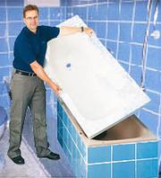 Реставрация ванн без демонтажа.  Акриловые вкладыши,  наливные ванны.