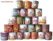Яркие бумажные формы для выпечки куличей (Пасха 2012,  15 апреля),  перг