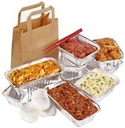 Упаковка,  Пищевые контейнеры из алюминиевой фольги,  пергамент