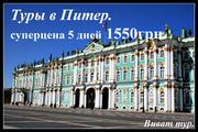 Тур в Санкт-Петербург эксклюзив.  Самая низкая цена 1450 грн.