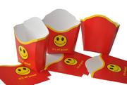 Картонная упаковка для ФАСТ-ФУДА: для картошки фри,  для бургеров,  для