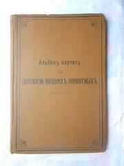 Альбом картин по зоологии низжих животных 1904 года