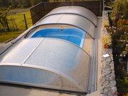 Накрытие из алюминиевых профилей и поликарбоната для бассейна.