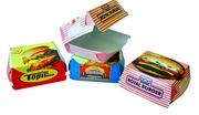 Картонные коробочки для гамбургеров