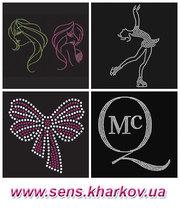 Продам рисунки из страз,  логотипы из страз,  аппликации,  картинки