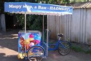 Велосипед трёхколёсный для уличной продажи мороженого,  кофе,  рекламы