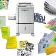 Печать на ризографе листовок,  объявлений,  прайсов. Тиражирование.