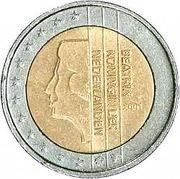 Продам 2 евро 2001 г. Нидерланды