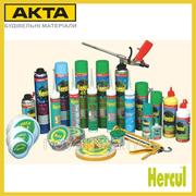 Строительная химия: пены,  герметики,  силиконы,  клеи,  пластификаторы