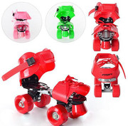 Роликовые коньки раздвижные 4-колесные Profi Roller для мальчиков и де