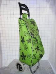 Зеленая сумка-тележка