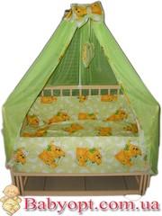 Акция! Качественные постельные наборы в кроватку от производителя.