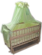 Всё для сна! Эко кроватка маятник + матрас кокос + постель 8 эл. Новое