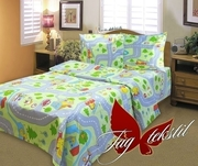 Детское постельное белье в кроватку,  Комплект Веселые дороги