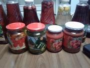 Компоты,  томатная паста,  консерв огурцы и помидоры