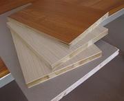 Столярная плита шпонированная толщины от 19 мм до 39 мм.