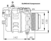 Компрессор кондиционера BMW 5 и BMW 7 кузов E39