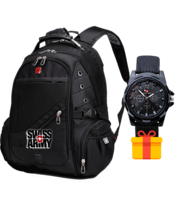 Швейцарский рюкзак SWISSGEAR + часы Swiss army в подарок