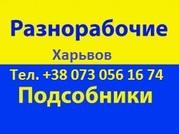 Предоставлю мастеров,  подсобников Харьков 0730561674