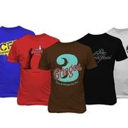 Шелкотрафаретная печать на футболках ткани изделиях шелкография