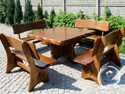 Мебель из дерева для сада дачи