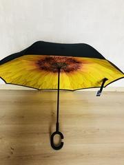Ветрозащитный обратный зонтик складной двойной Слои перевертыш