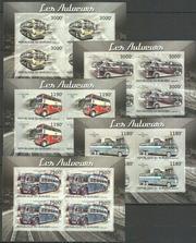 Красивые марки транспорт,  Автобусы