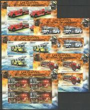 Красивые марки Пожарные машины