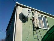 Ремонт тюнера установка спутниковой  антенны.