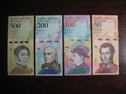 Набор банкнот Венесуэлы 2018,  8 шт