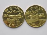 Красивые монеты Самолеты 2017