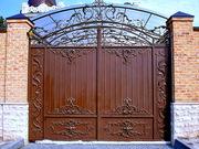 кованые ворота,  калитки под заказ
