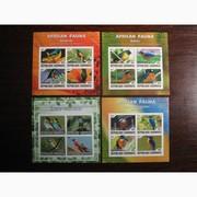 Красивые марки Птицы Габон