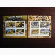 Красивые марки фауна Габон