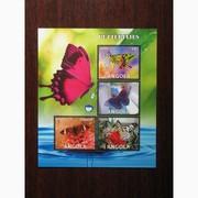 Красивые марки фауна Бабочки