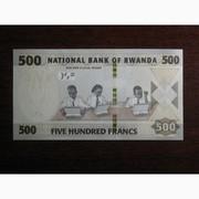 500 франков Руанды 2019 UNC
