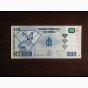 500 франков Конго 2013,  UNC