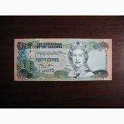 50 центов Багамских о-вов 2001,  UNC