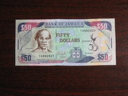 50 долларов Ямайки 2012,  UNC