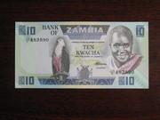 10 квача Замбии 1984,  UNC