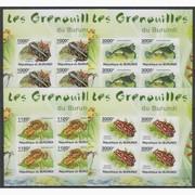 Красивые марки фауна Лягушки