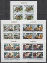 Красивые марки фауна Кошки