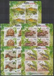Красивые марки фауна Рептилии
