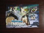 Красивые марки фауна Пингвины