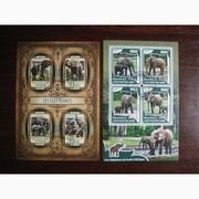 Красивые марки фауна Слоны