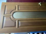 Продам дверь дерево сосна +стекло+ручка новая стояла на ветрине
