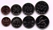 Набор монет Южной Кореи UNC