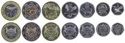 Набор монет Ботсваны UNC
