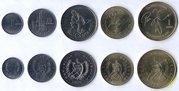 Набор монет Гватемалы UNC